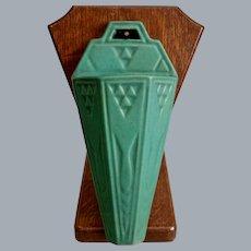 """Roseville Pottery Matt Green Wall Pocket #1203-10"""", Circa 1916"""