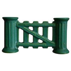 """Roseville Pottery Matt Green """"Gate"""" Vase, Circa 1916"""