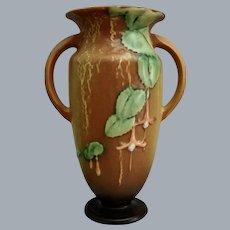 "Roseville Pottery Fuchsia Vase #899-9"", Brown, Circa 1938"