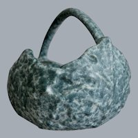 "Roseville Pottery Late Capri Basket #508-7"", Blue, Circa 1954"
