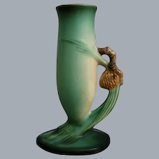 "Roseville Pottery Pine Cone Bud Vase #479-7"", Green"