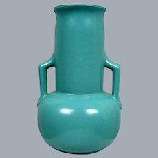 Cowan Pottery Lakeware Vase #V-68, Peacock Glaze, Circa 1930