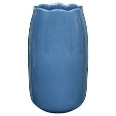 Cowan Pottery Lakeware Vase #V-71, Delft Blue, Ca. 1930