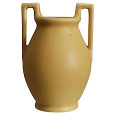 Rookwood Pottery Arts & Crafts Vase #2558, Yellow Matt, 1923