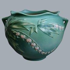 "Roseville Pottery Bleeding Heart Jardinière #651-6"", Green, Circa 1940"