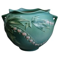 "Roseville Pottery Bleeding Heart Jardinière #651-6"", Green, Circa 1940"