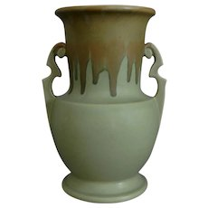 "Roseville Pottery Carnelian I Vase #317-10"", Tan/Light Green, Circa 1926"
