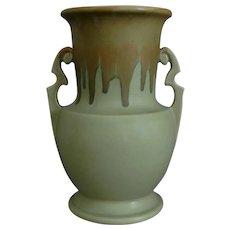 "Roseville Pottery Carnelian I Vase #317-10"", Tan/Light Green, Circa 1926"