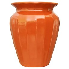 Pfaltzgraff Pottery Vase #224, Orange, Circa 1935