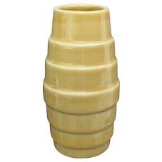 "Scarce Alamo Pottery 7"" Vase #713, Yellow, Circa 1945"