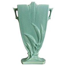 "Roseville Pottery ""Crystal Green"" Pillow Vase #942-8"", Circa 1939"
