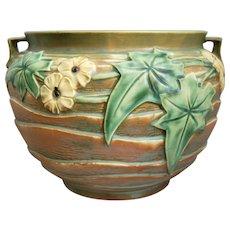"Roseville Pottery Luffa Jardiniere #631-8"", Brown, Circa 1934"