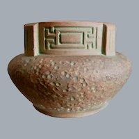 Monumental Peters & Reed Pottery Moss Aztec Jardinière #7-C, Circa 1920