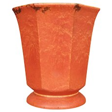 Large Cowan Pottery Vase #V-40, Oriental Red, Circa 1930