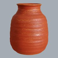 Cowan Pottery Vase #V-30, Oriental Red, Circa 1930