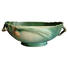 "Roseville Pottery Pine Cone Bowl #279-9"", Green, Circa 1936"
