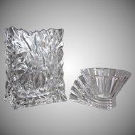 Rosenthal Studio Line Crystal Vase & Votive Set