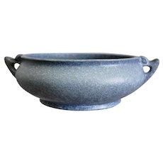 "Rare Roseville Pottery Artcraft Bowl #161-7"", Windsor Blue, Circa 1933"