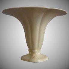 """Cowan Pottery """"Morning Glory"""" Vase Ca. 1927, Ivory"""
