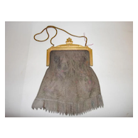 Vintage 1920's Whiting & Davis Co. Mesh Bag - Romantic Art Deco