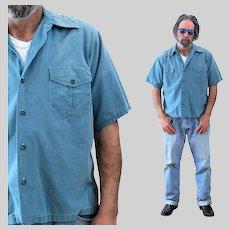 40s Men's Crown Headlight Industrial Work Shirt L Large