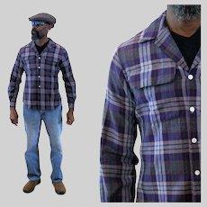 80s Plaid Flannel Paul Stuart Board Shirt S Small