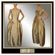 Vintage Couturier 40s Bianca Gusmaroli Evening Gown // 1940s Canadian Couture Designer Dress Ladies Size S
