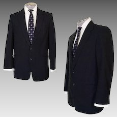 Vintage 1950s Mens Suit Jacket Hand Tailored Size Medium Blazer