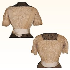Antique Edwardian Lace Blouse Size S