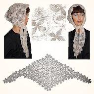 Vintage 1960s Color Block Silk Scarf - John Weitz : Poppy's