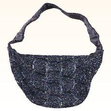 Vintage 1950s Blue Beaded Evening Bag