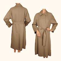 Vintage Aquascutum Raincoat Wool Gabardine Ladies Size - M UK 56