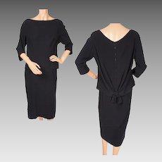 Vintage 1950s Haute Couture Cocktail Dress Jean Desses - Paris