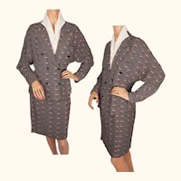 Vintage 1970s French Ladies Suit Jacket & Skirt - Samantha Paris - M