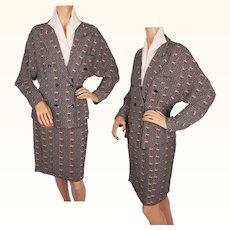 Vintage 1970s French Ladies Suit Jacket & Skirt - Samantha Paris - M