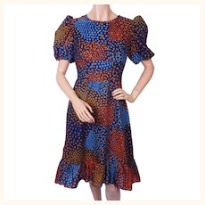 Vintage 60s Dress - Geometric Dot Pattern - Daymor Couture - M