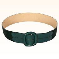 Vintage 70s Valentino Garavani Green Leather & Suede Belt Ladies Size S