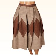Vintage 1950s Hand Woven Wool Skirt Made in Greece Yfanta Size S