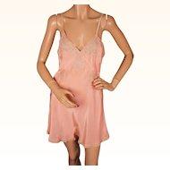 Vintage 1930s Pink Silk Teddy Slip Camiknickers Step-ins Unused NWT