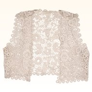Antique Edwardian Irish Crochet Lace Vest