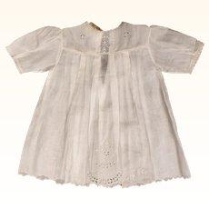 Vintage Baby Dress or 1920s Doll Dress Unused w Original Tag E Corbiere Paris