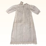 Vintage 1920s Christening Dress Unused w Original Tag E Corbiere Paris