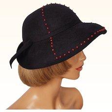 Vintage 1940s Stetson Womens Felt Hat Ladies Size S / M