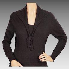 Vintage 1950s Christian Dior Cashmere Sweater by Lyle and Scott Scotland - Ladies - Medium