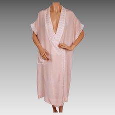 Vintage 1920s Pink Silk Peignoir Dressing Gown Charbonneau Montreal