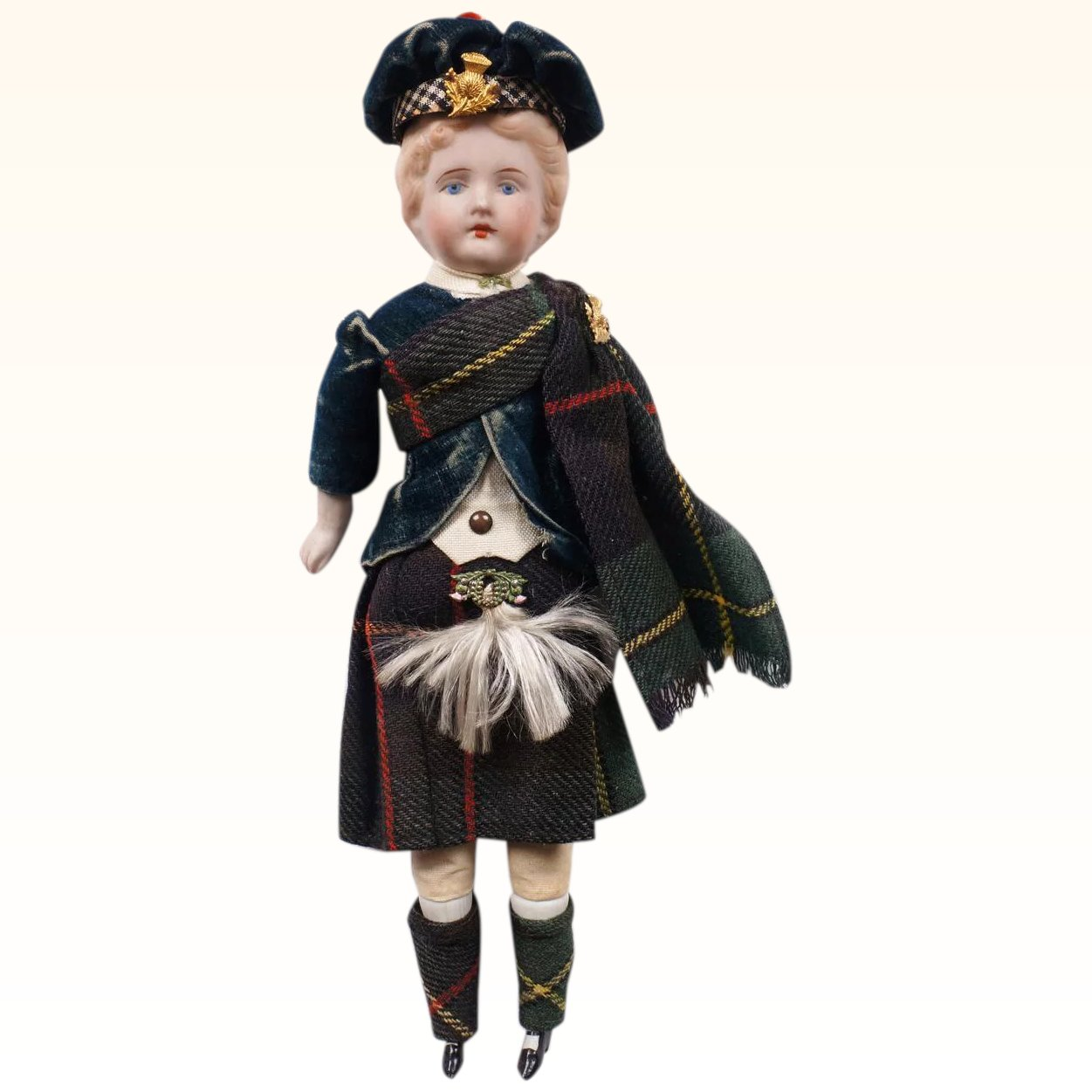 Click to expand  sc 1 st  Ruby Lane & Antique Scottish Character Doll German Bisque Male in Highland Dress ...
