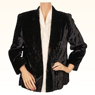 Vintage 1940s  Jacket Black Panne Velvet Ladies Size M