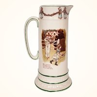 Antique KATE GREENAWAY Pitcher Ridgways Pottery w Childrens Illustrations 1890s
