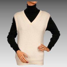 Vintage Scottish Cashmere Sweater Vest J&D McGeorge Scotland Ladies Size M