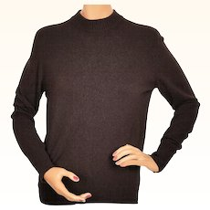 Vintage Ballantyne Cashmere Sweater Brown Pullover Style Made in Scotland Ladies Size L
